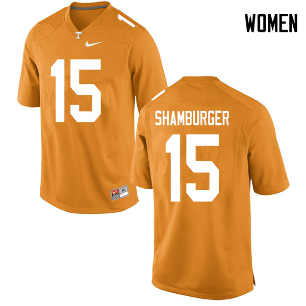 Women #15 Shawn Shamburger Tennessee Volunteers College Football Jerseys Sale-Orange