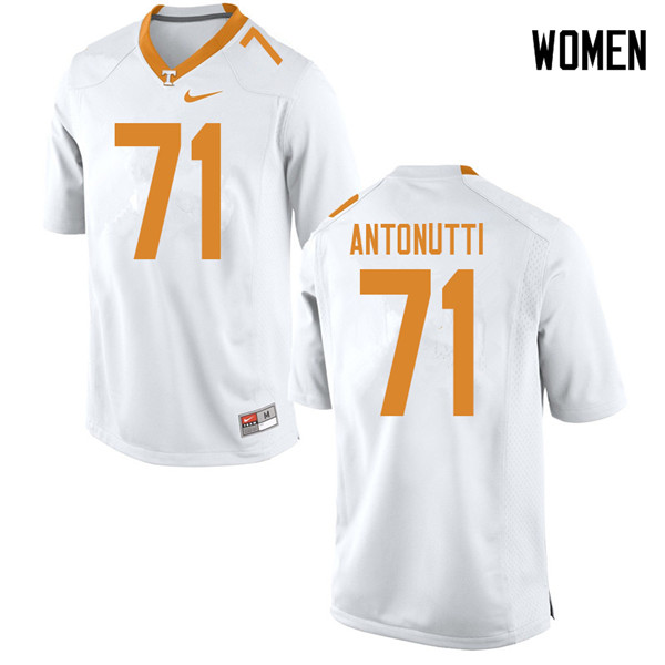 Women #71 Tanner Antonutti Tennessee Volunteers College Football Jerseys Sale-White