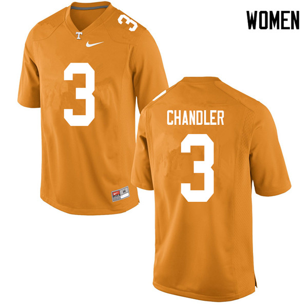 Women #3 Ty Chandler Tennessee Volunteers College Football Jerseys Sale-Orange