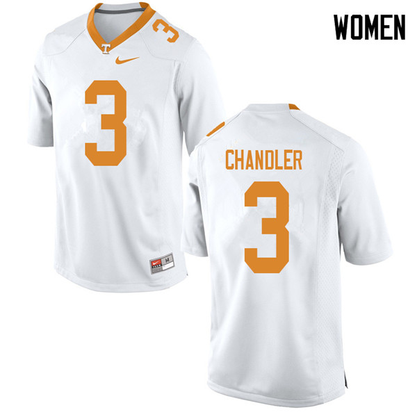 Women #3 Ty Chandler Tennessee Volunteers College Football Jerseys Sale-White