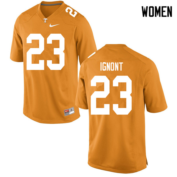 Women #23 Will Ignont Tennessee Volunteers College Football Jerseys Sale-Orange