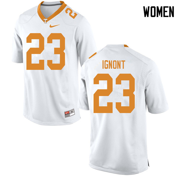 Women #23 Will Ignont Tennessee Volunteers College Football Jerseys Sale-White