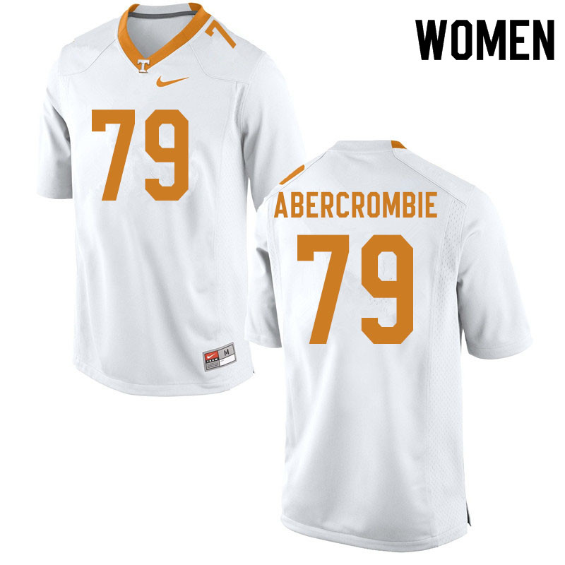 Women #79 Jarious Abercrombie Tennessee Volunteers College Football Jerseys Sale-White