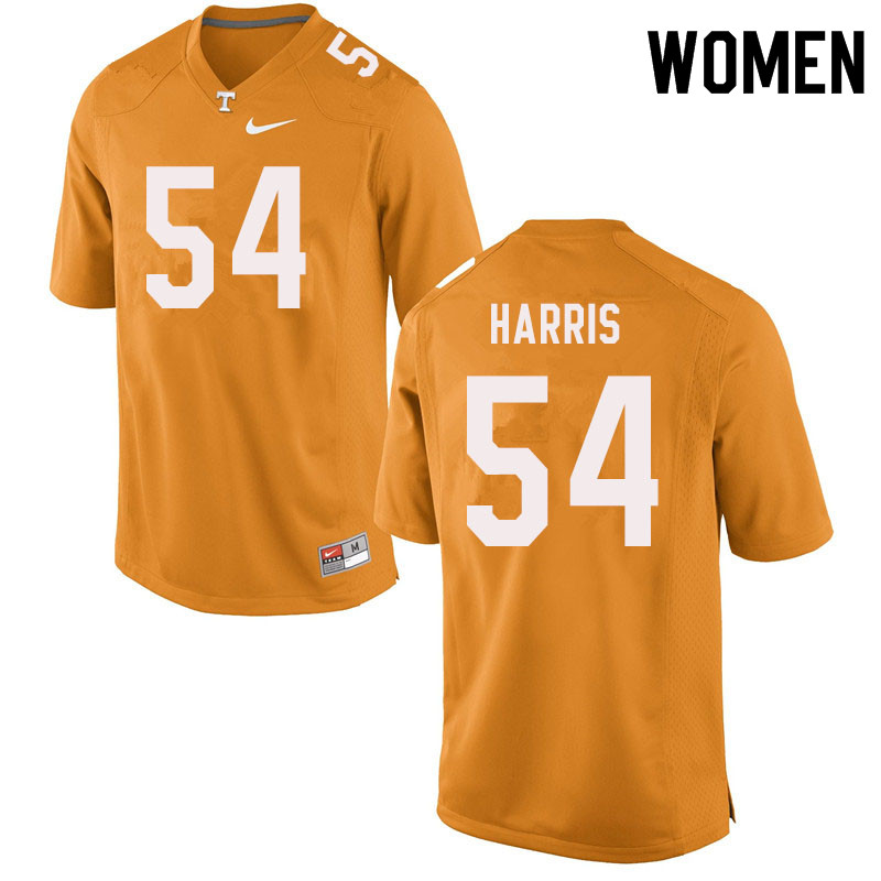 Women #54 Kingston Harris Tennessee Volunteers College Football Jerseys Sale-Orange