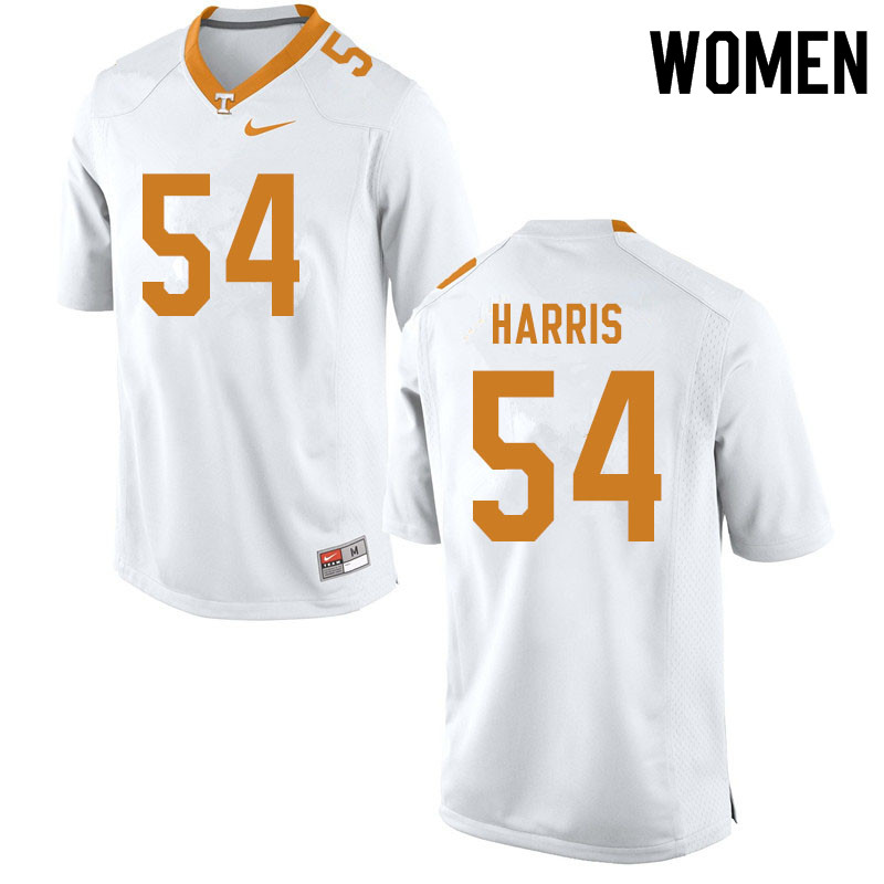 Women #54 Kingston Harris Tennessee Volunteers College Football Jerseys Sale-White