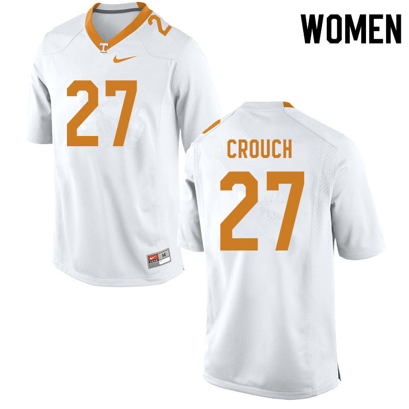 Women #27 Quavaris Crouch Tennessee Volunteers College Football Jerseys Sale-White