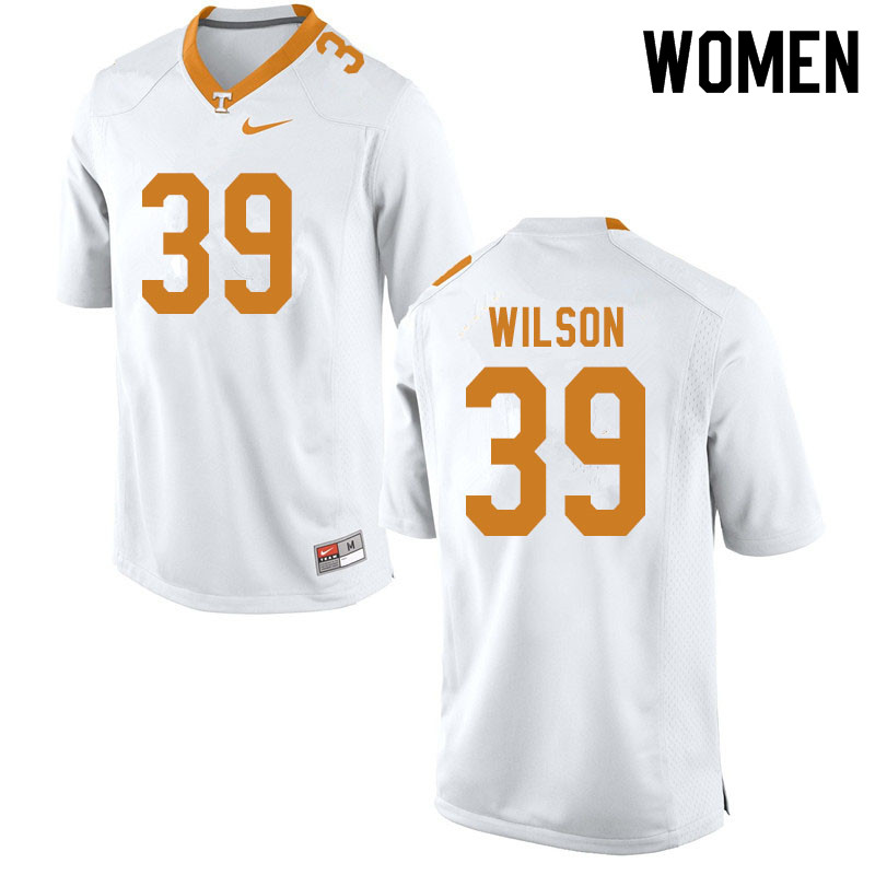 Women #39 Toby Wilson Tennessee Volunteers College Football Jerseys Sale-White