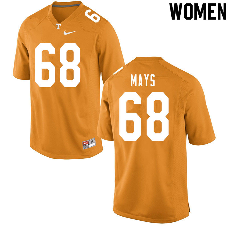 Women #68 Cade Mays Tennessee Volunteers College Football Jerseys Sale-Orange