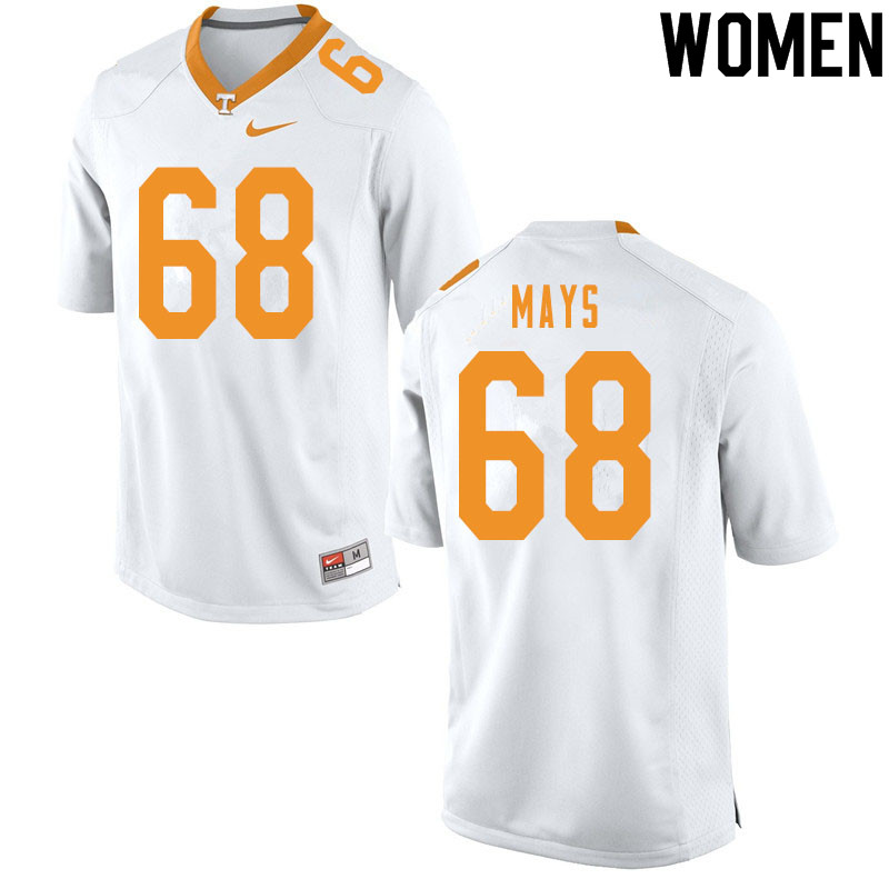 Women #68 Cade Mays Tennessee Volunteers College Football Jerseys Sale-White