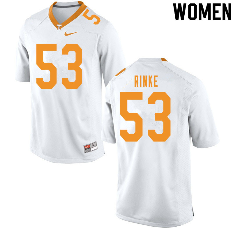 Women #53 Ethan Rinke Tennessee Volunteers College Football Jerseys Sale-White