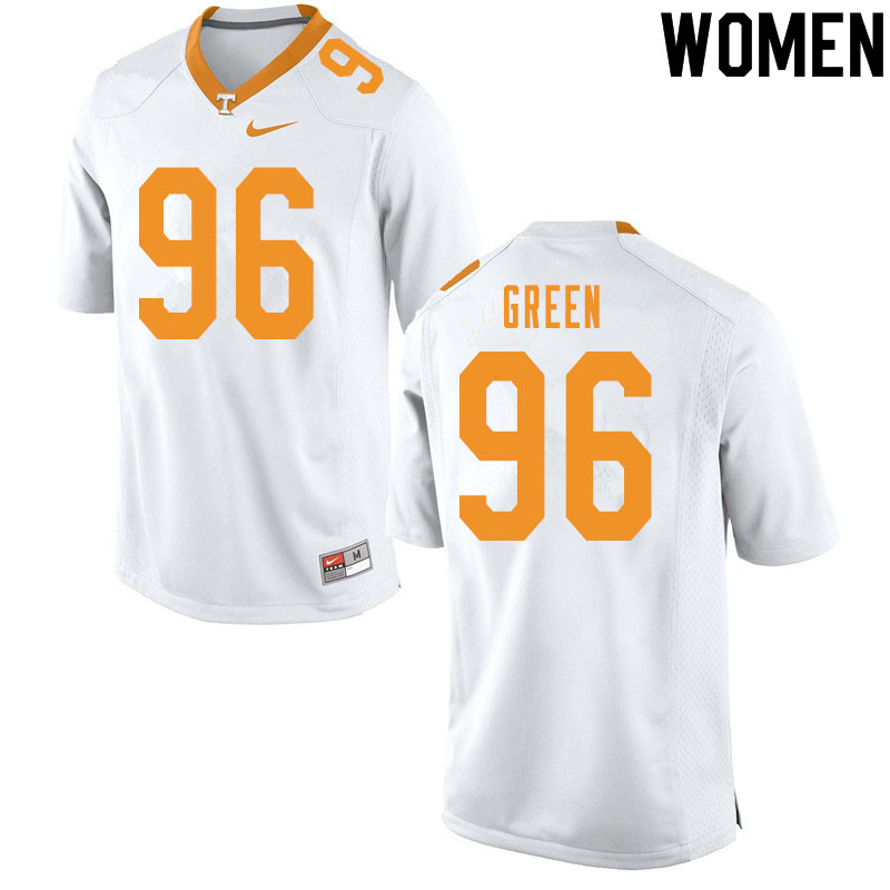 Women #96 Isaac Green Tennessee Volunteers College Football Jerseys Sale-White