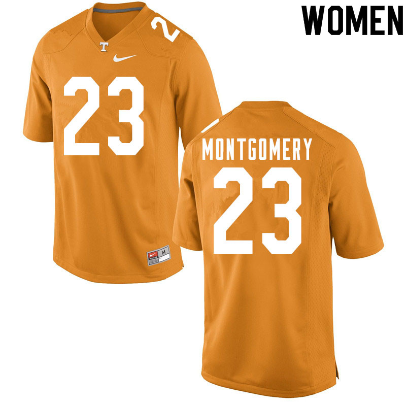 Women #23 Isaiah Montgomery Tennessee Volunteers College Football Jerseys Sale-Orange