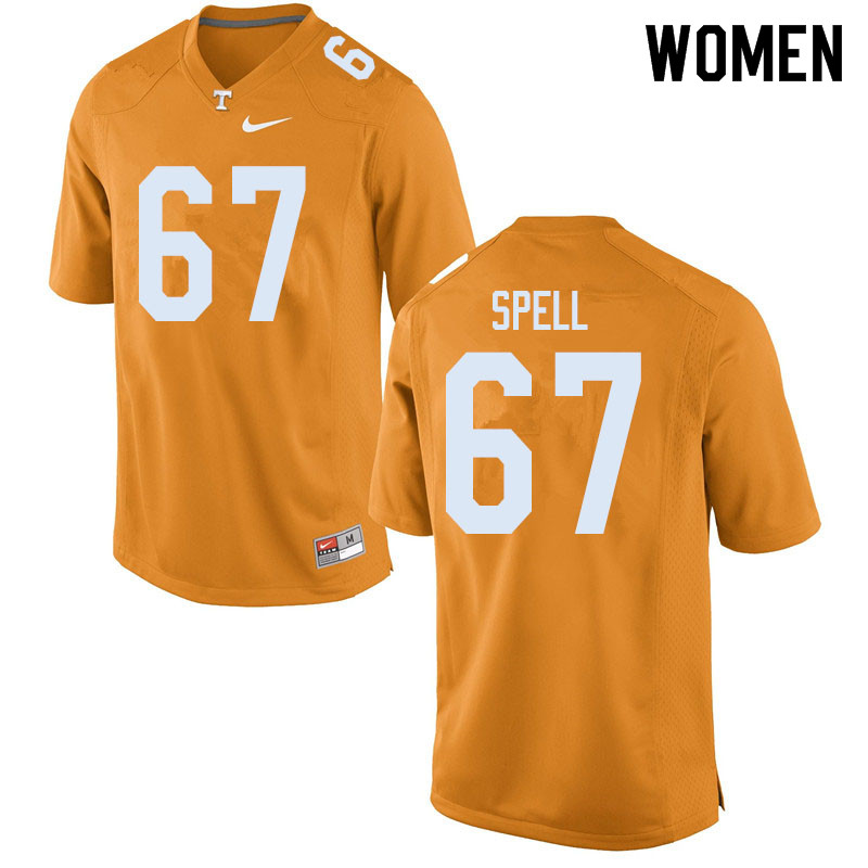 Women #67 Airin Spell Tennessee Volunteers College Football Jerseys Sale-Orange