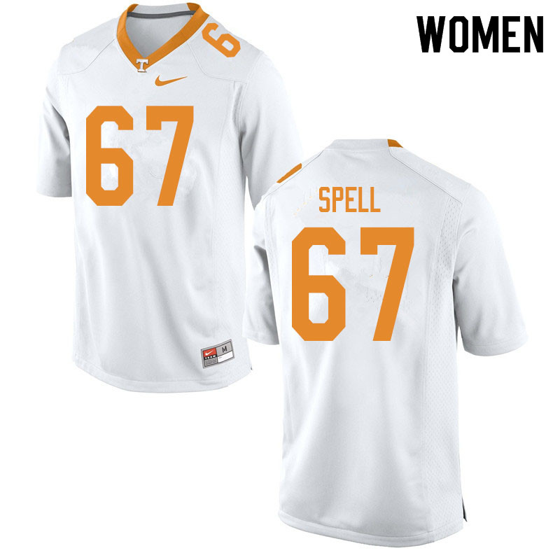 Women #67 Airin Spell Tennessee Volunteers College Football Jerseys Sale-White