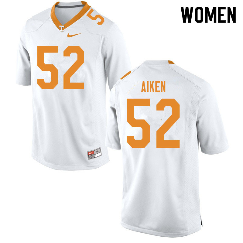Women #52 Bryan Aiken Tennessee Volunteers College Football Jerseys Sale-White