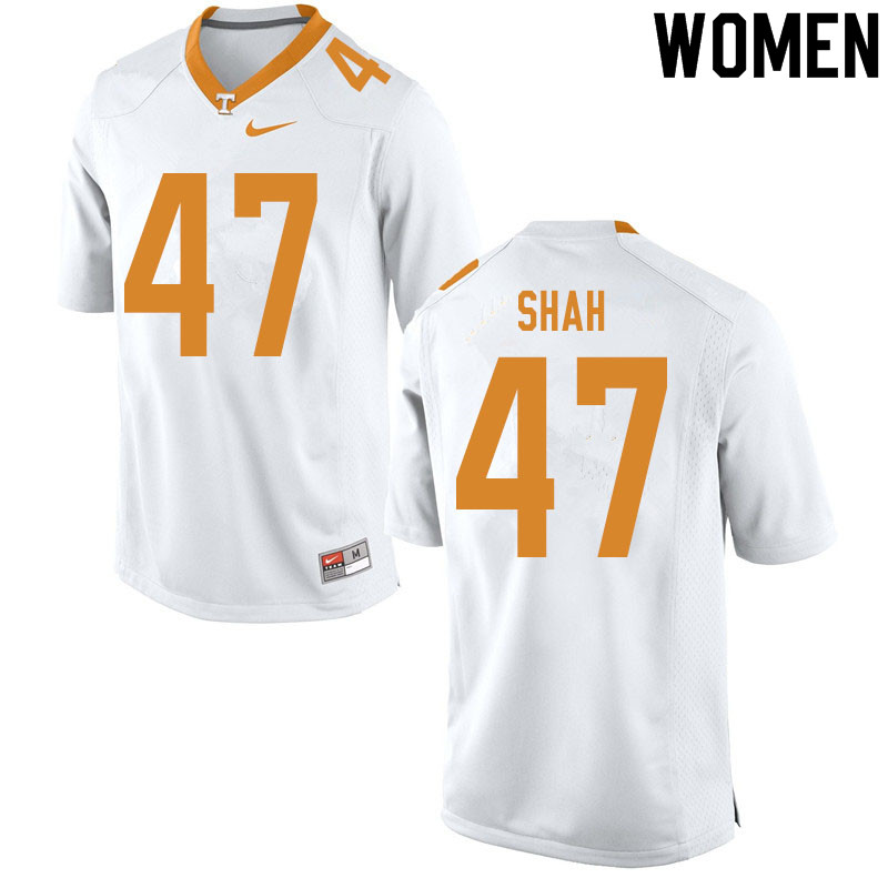 Women #47 Sayeed Shah Tennessee Volunteers College Football Jerseys Sale-White