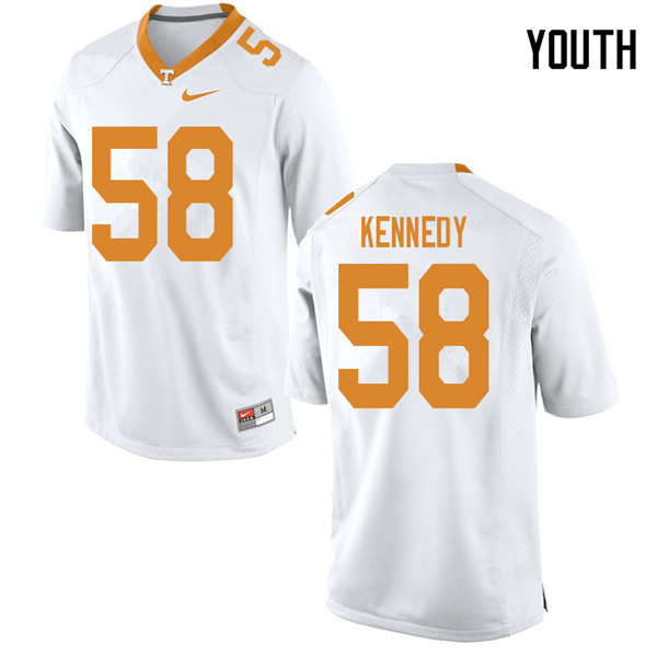 Youth #58 Brandon Kennedy Tennessee Volunteers College Football Jerseys Sale-White