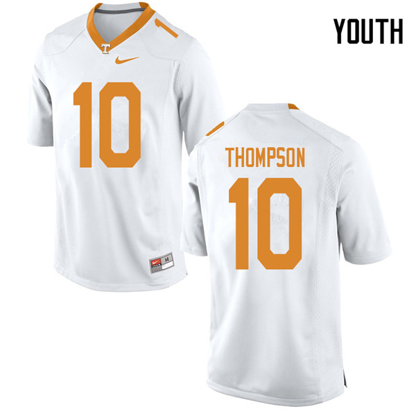 Youth #10 Bryce Thompson Tennessee Volunteers College Football Jerseys Sale-White