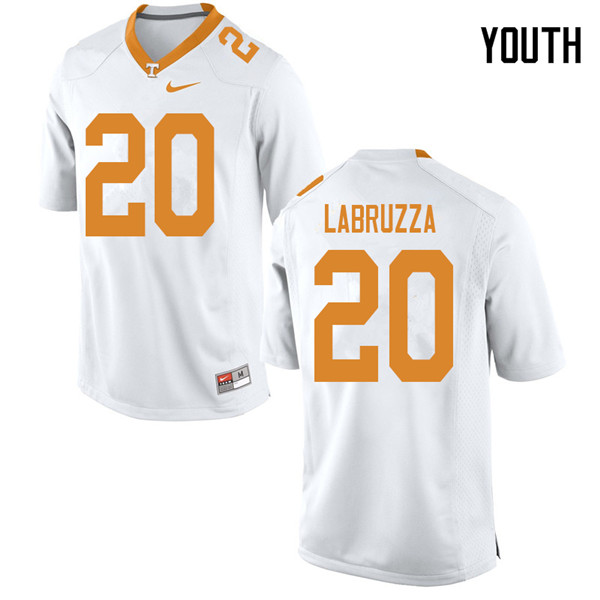 Youth #20 Cheyenne Labruzza Tennessee Volunteers College Football Jerseys Sale-White