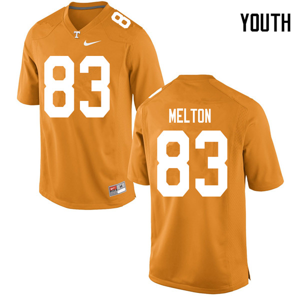 Youth #83 Cooper Melton Tennessee Volunteers College Football Jerseys Sale-Orange