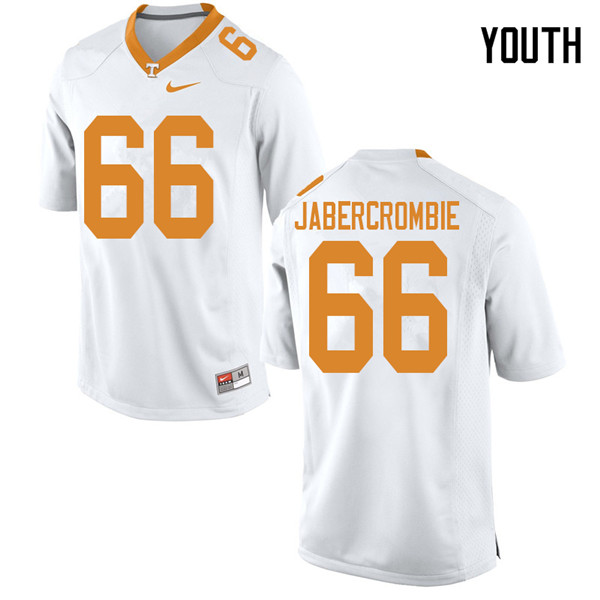 Youth #66 Jarious Abercrombie Tennessee Volunteers College Football Jerseys Sale-White