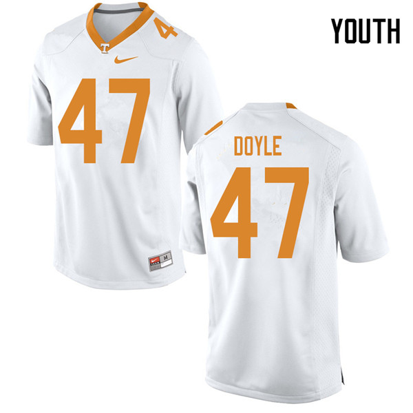 Youth #47 Joe Doyle Tennessee Volunteers College Football Jerseys Sale-White
