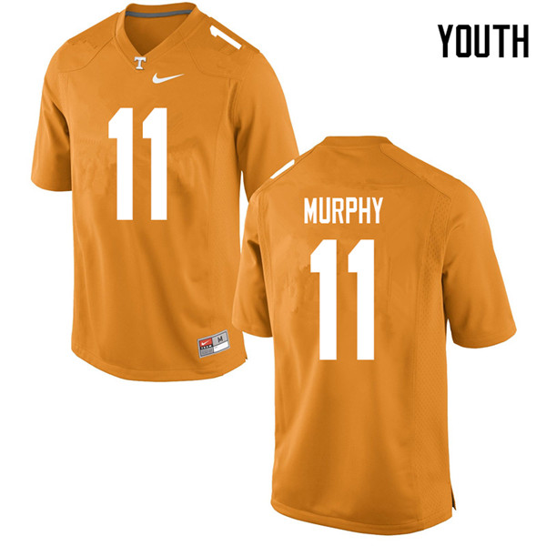 Youth #11 Jordan Murphy Tennessee Volunteers College Football Jerseys Sale-Orange
