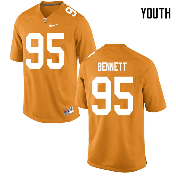 Youth #95 Kivon Bennett Tennessee Volunteers College Football Jerseys Sale-Orange