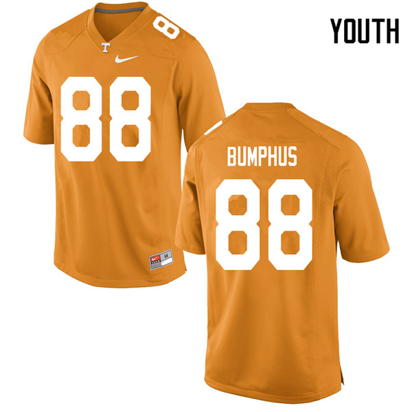Youth #88 LaTrell Bumphus Tennessee Volunteers College Football Jerseys Sale-Orange