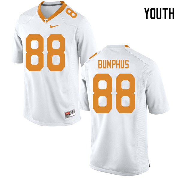 Youth #88 LaTrell Bumphus Tennessee Volunteers College Football Jerseys Sale-White