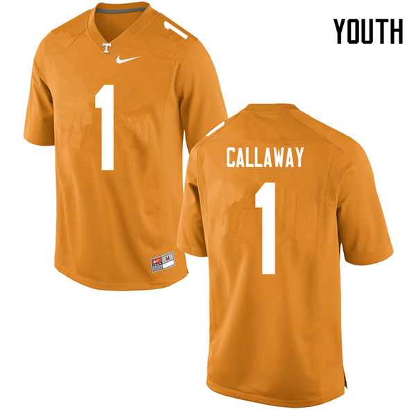 Youth #1 Marquez Callaway Tennessee Volunteers College Football Jerseys Sale-Orange