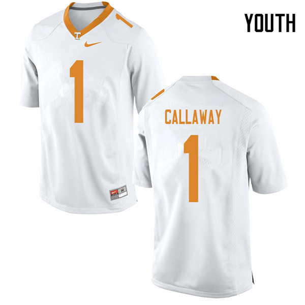 Youth #1 Marquez Callaway Tennessee Volunteers College Football Jerseys Sale-White