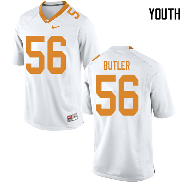 Youth #56 Matthew Butler Tennessee Volunteers College Football Jerseys Sale-White