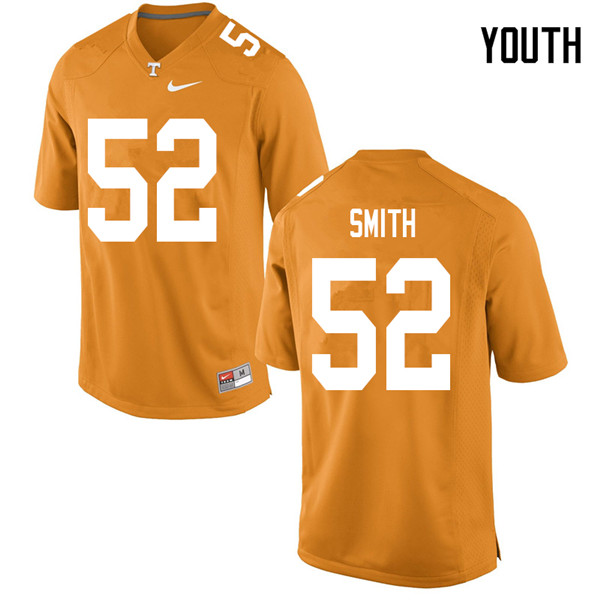 Youth #52 Maurese Smith Tennessee Volunteers College Football Jerseys Sale-Orange