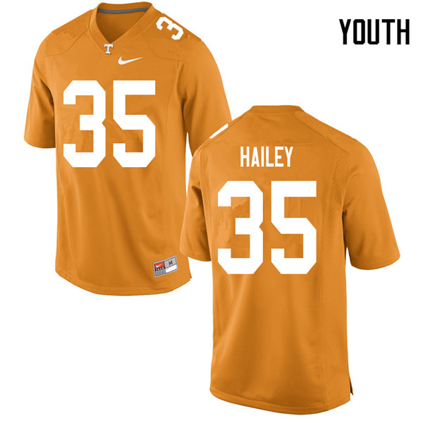 Youth #35 Ramsey Hailey Tennessee Volunteers College Football Jerseys Sale-Orange