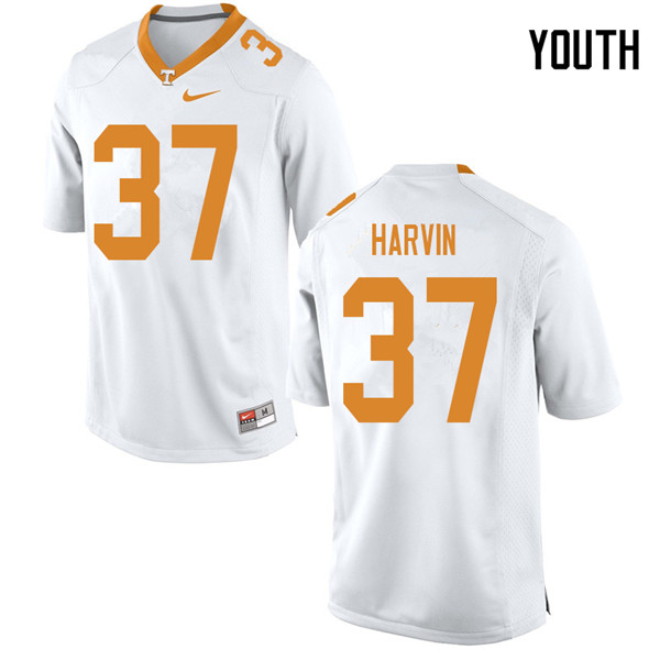 Youth #37 Sam Harvin Tennessee Volunteers College Football Jerseys Sale-White