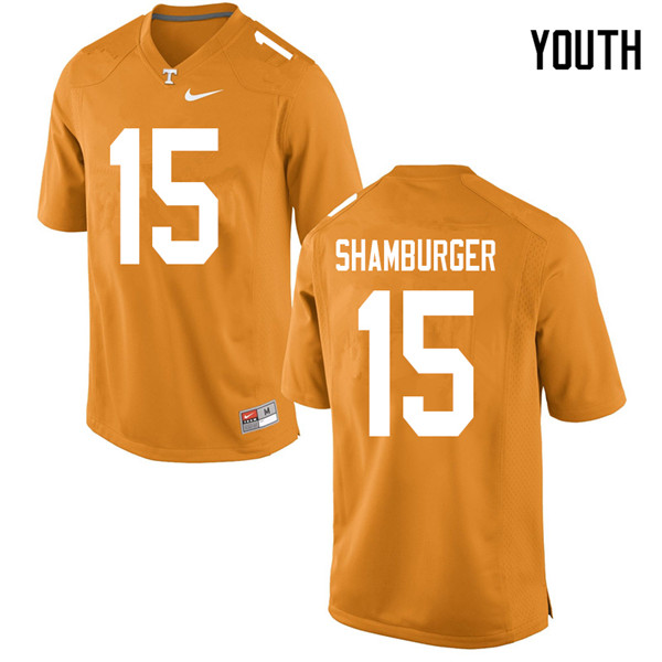 Youth #15 Shawn Shamburger Tennessee Volunteers College Football Jerseys Sale-Orange