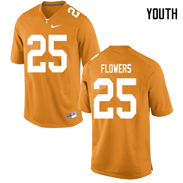 Youth #25 Trevon Flowers Tennessee Volunteers College Football Jerseys Sale-Orange