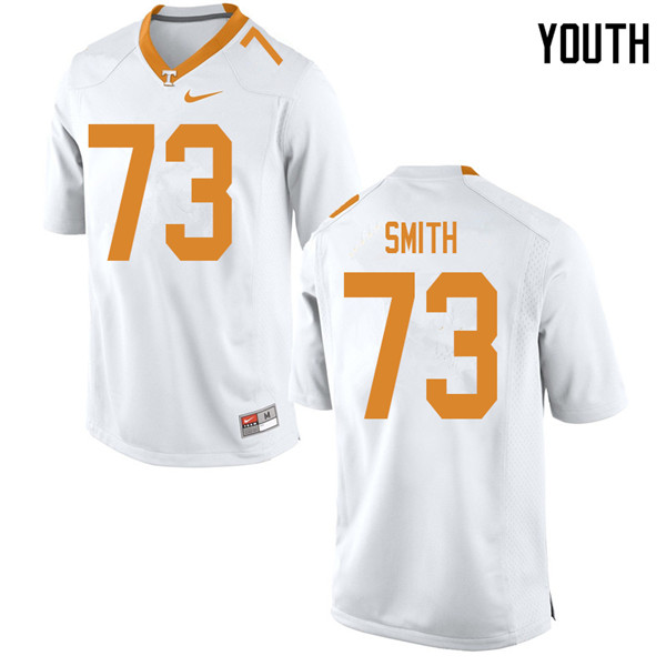 Youth #73 Trey Smith Tennessee Volunteers College Football Jerseys Sale-White