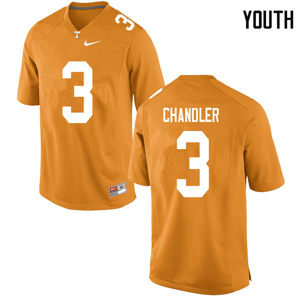 Youth #3 Ty Chandler Tennessee Volunteers College Football Jerseys Sale-Orange