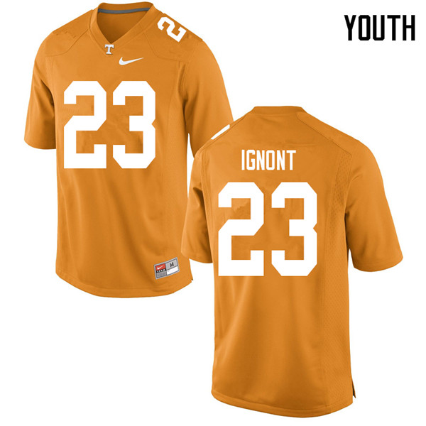 Youth #23 Will Ignont Tennessee Volunteers College Football Jerseys Sale-Orange