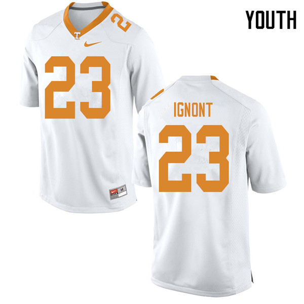 Youth #23 Will Ignont Tennessee Volunteers College Football Jerseys Sale-White