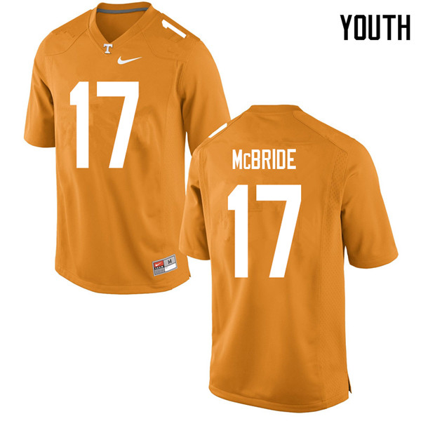 Youth #17 Will McBride Tennessee Volunteers College Football Jerseys Sale-Orange