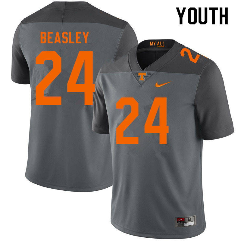 Youth #24 Aaron Beasley Tennessee Volunteers College Football Jerseys Sale-Gray
