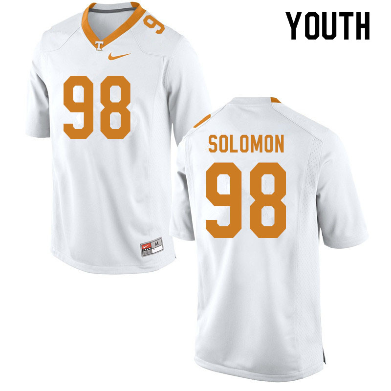 Youth #98 Aubrey Solomon Tennessee Volunteers College Football Jerseys Sale-White