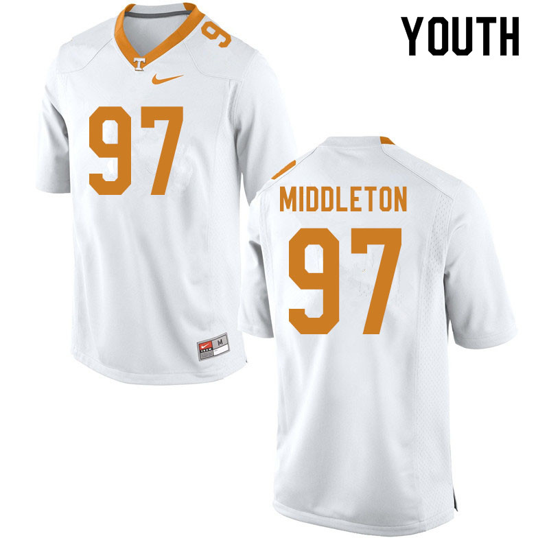 Youth #97 Darel Middleton Tennessee Volunteers College Football Jerseys Sale-White
