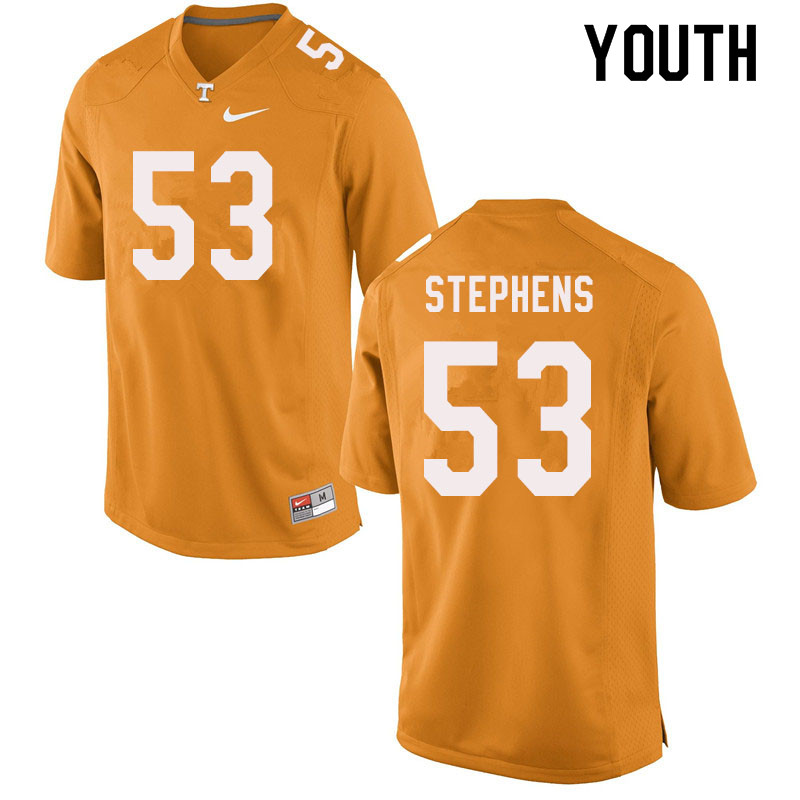 Youth #53 Dawson Stephens Tennessee Volunteers College Football Jerseys Sale-Orange