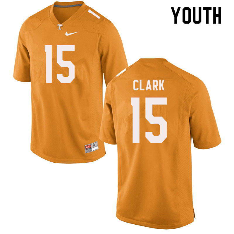 Youth #15 Hudson Clark Tennessee Volunteers College Football Jerseys Sale-Orange