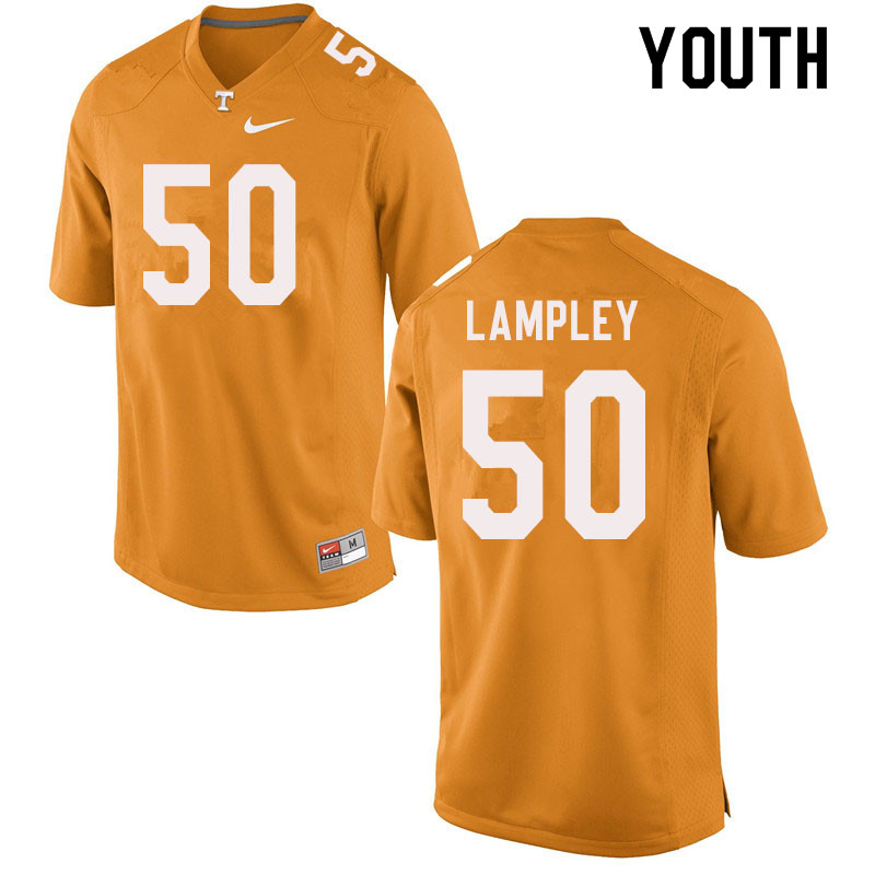 Youth #50 Jackson Lampley Tennessee Volunteers College Football Jerseys Sale-Orange