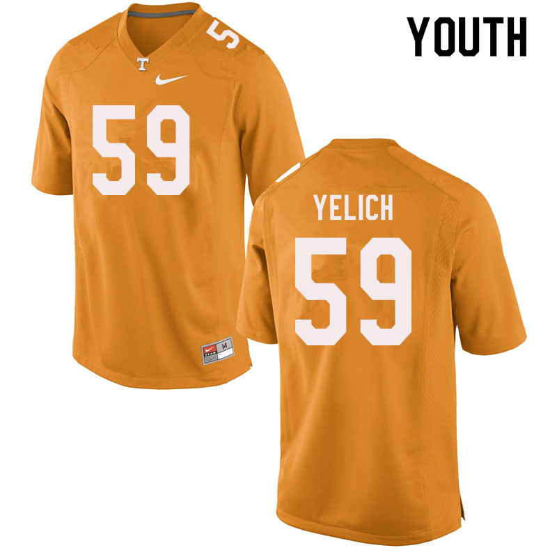 Youth #59 Jake Yelich Tennessee Volunteers College Football Jerseys Sale-Orange